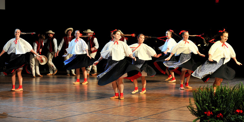Dolina Polish Folk Dancers perform Beskid at Festival of Nations in St. Paul, Minnesota