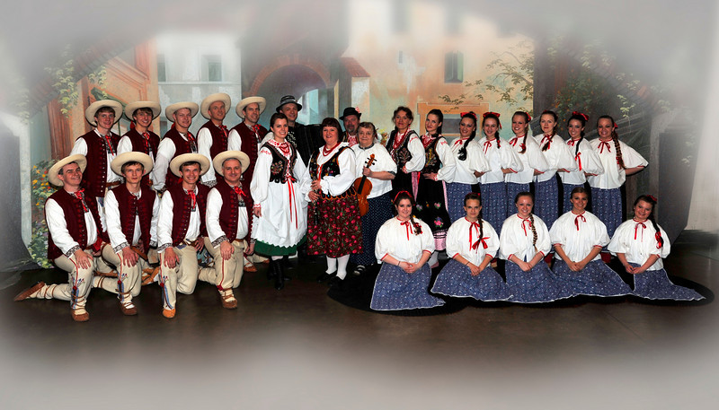 Dolina Polish Folk Dancers in Beskid costumes at the Festival of Nations in St. Paiul, Minnesota