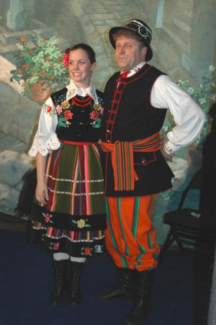 Dolina Polish Folk Dancers in Kujawiak costumes - Lowicz