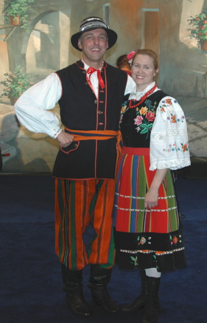 Dolina Polish Folk Dancers in Lowicz costumes