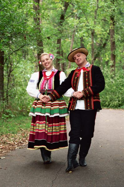 Dolina Polish Folk Dancers in Lublin costumes