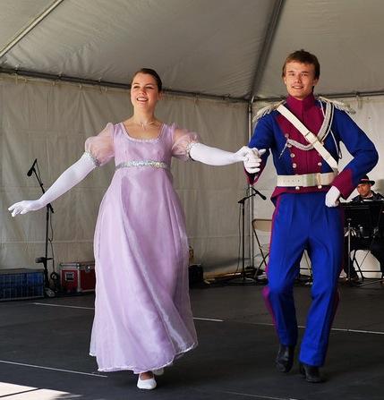Dolina Polish Folk Dancers in Mazur costume