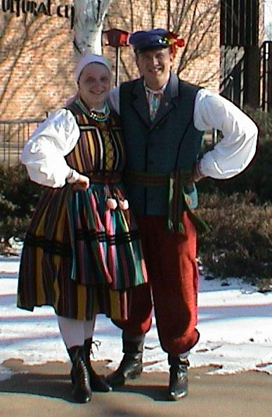 Dolina Polish Folk Dancers in Opoczno costumes
