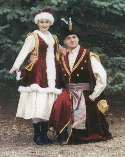 Dolina Polish Folk Dancers in Polonez costumes