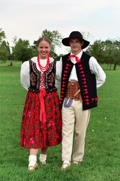 Dolina Polish Folk Dancers in Zywiec Mountain costumes