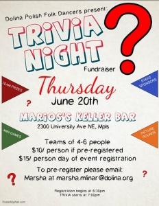 06/20 – Trivia Night